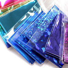 10 Sheets Mixed Foil Finger Nail Art Sticker Decals Water Transfer Stickers Tips