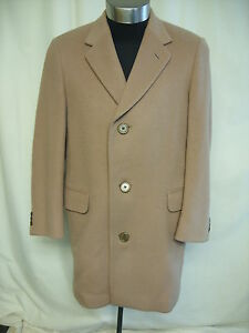 Mens-Coat-Aquascutum-camel-chest-42-034-length-36-034-wool-cashmere-blend-2074