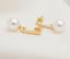 Ohrhanger-2-Stuck-Gold-ge-Ohrring-Perle-Damenschmuck-Ohrstecker-Perlen-Hochzeit miniatura 3