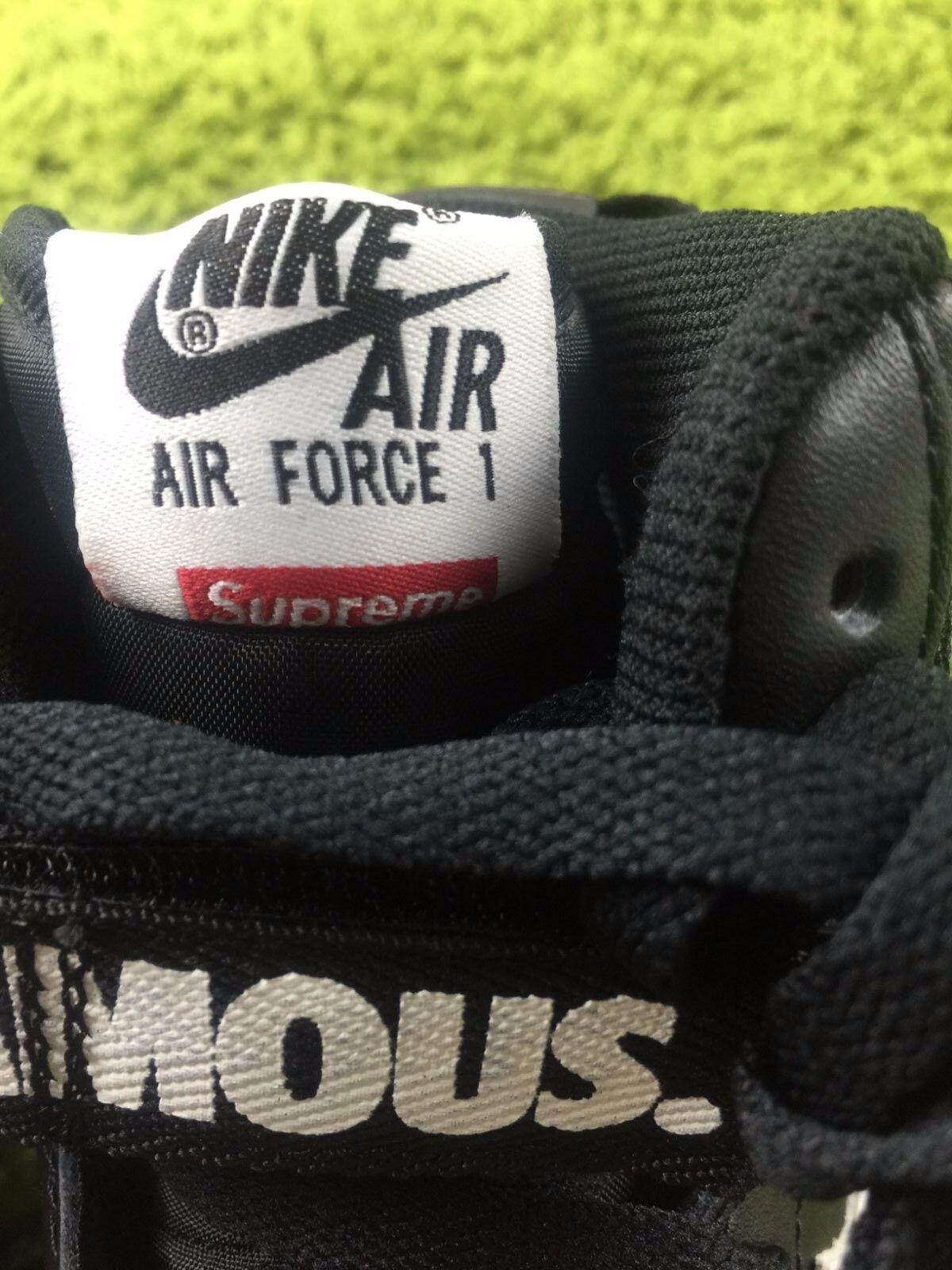 reputable site 38941 89282 Supreme F W 2014 Nike Air Force 1 High SP Black White (698696-