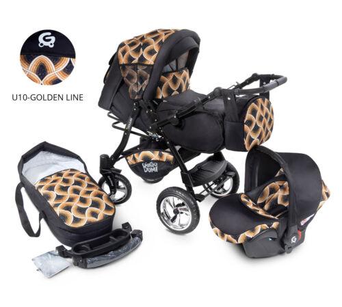 Urbano  Kombikinderwagen Kinderwagen Babyschale 3in1 System Autositz