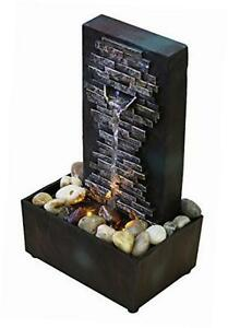 Brick Wall Indoor Water Fountain Tabletop Waterfall Relaxation ...