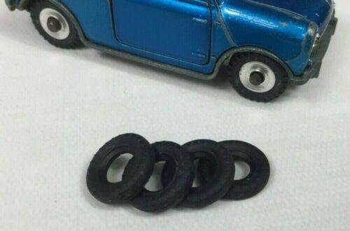 DO7 Lot de 4 pneus neufs pour MORRIS MINI Dinky Toys 183