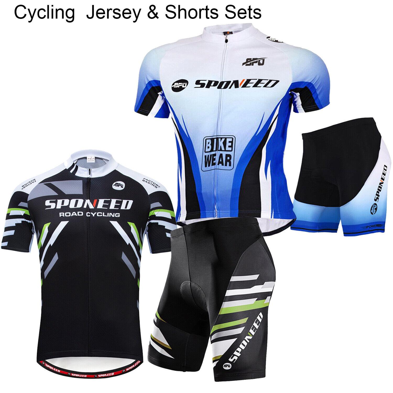 Cycling Jersey Sets Bike Shorts Padded Cyclist Uniforms MTB Road Biker Outfits