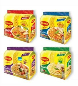 COMBO MAGGI 4 FLAVOUR PER BOX ( 20X77gram) Curry, Tom yum, Chicken, Asam Laksa
