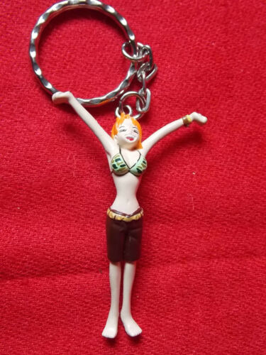 "ONE PIECE NAMI Keyring 2.5"" 6.5cm SOLID PVC FIGURE UK DESPATCH"