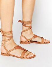 Free People Women's Oliviera Leather Wrap Sandals Retail $68 size 5