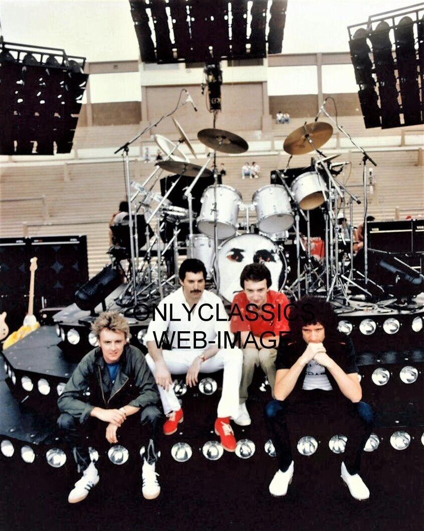 Queen Band Freddie Mercury Brian May John Deacon Roger Taylor  8x10 Glossy Photo