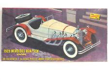 Vintage Rare Lindberg #668, 1929 Mercedes Benz 1:24 scale model car kit, 1960's