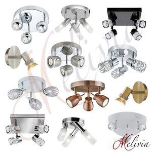 techo-Reflector-Focos-Cobre-LED-CROMADO-NEGRO-plata-Aplique-lampara-de-techo