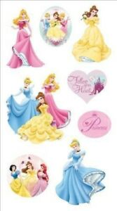 Disney-Princess-3-d-Stickers-Metal-Edged-Essential