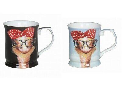 1pc Cute Cheeki Little Ostrich w Glasses Mug Cup 415cc Fine Bone China w Box   eBay