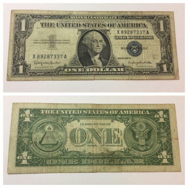 dollar bill 1957 certificate washington george seal currency