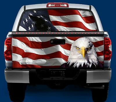 American Flag Amp Bald Eagle Tailgate Amp Window Wrap Kit