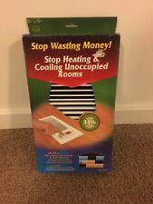 Vent-Miser 91665 Programmable Energy Saving Vent, 12-by-4-Inches, White