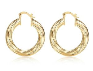 HOOP-EARRINGS-35MM-ROUND-GOLD-PLATED-SMALL-HOOPS-FAB-WOMEN-GIRL