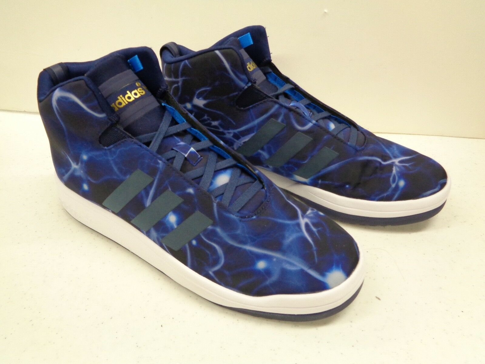 Adidas Fit Foam Mens Sneakers Athletic shoes bluee Galaxy Sz 8-1 2 Worn 1x 8.5