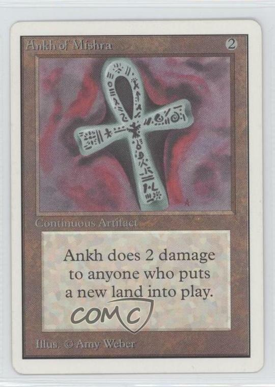 1993 Magic  The Gathering - Core Set  Unlimited  ANMI Ankh of Mishra Card n0n