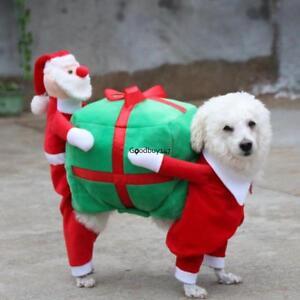 5 sizes funny christmas pet santa costume xmas gift puppy dog cat image is loading 5 sizes funny christmas pet santa costume xmas negle Image collections