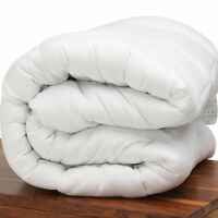 LUXURIOUS SOFT SILKY MICROFIBRE FEELS LIKE DOWN DUVET QUILT KING SIZE 10.5 TOG