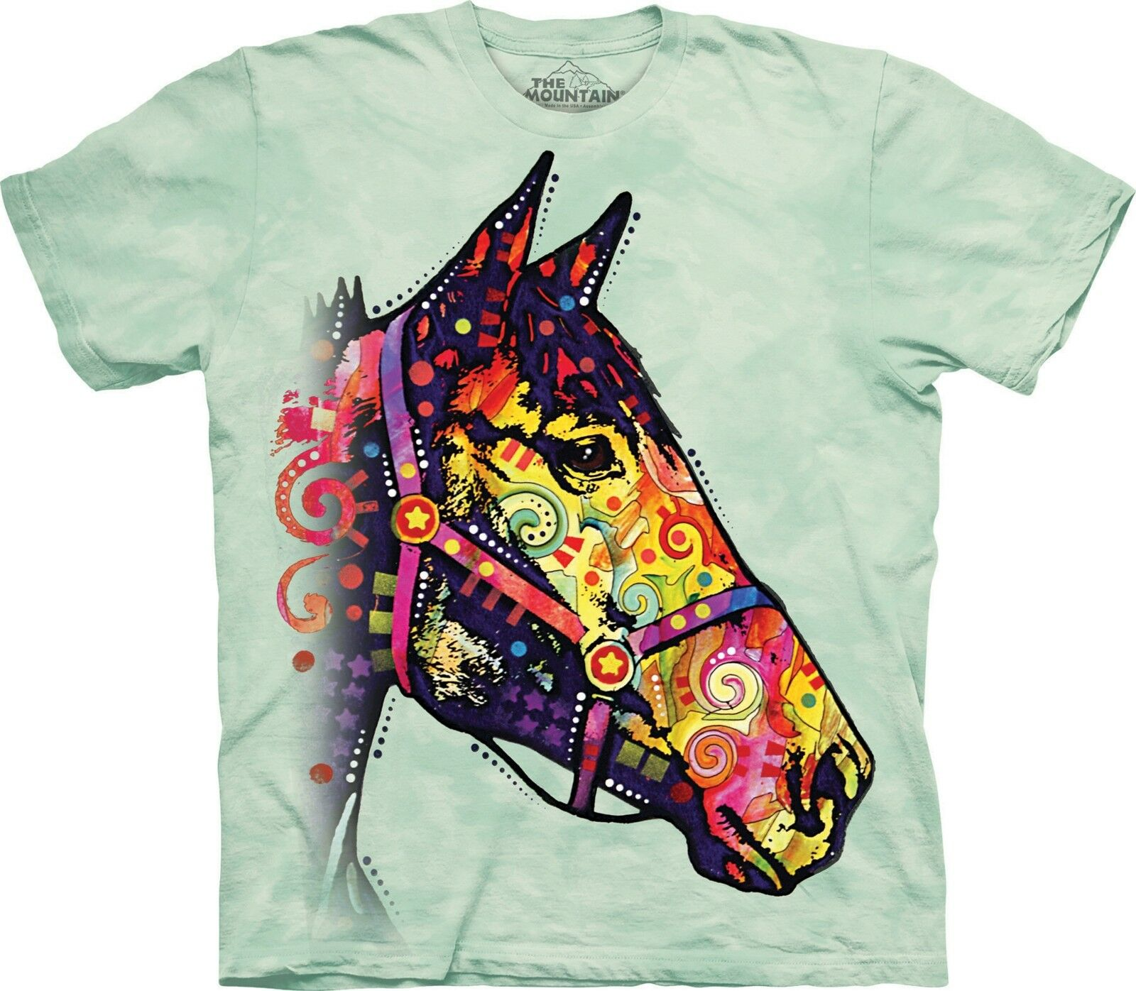 Funky Horse Animal T Shirt Adult Unisex The Mountain