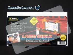 Details about ONTRACK Laser Shield - Anti-Laser License Plate Cover
