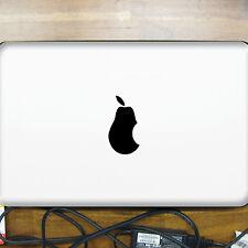 2 Stück Birne schwarz Apple verarsche Computer Laptop Auto Aufkleber Tattoo