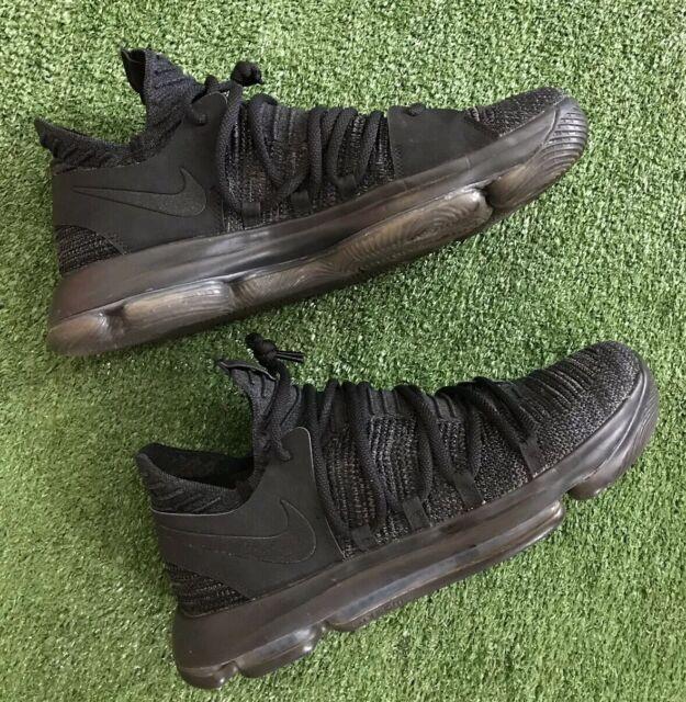 separation shoes f1876 375b8 Nike Zoom KD 10 Durant NBA X Triple Black Basketball Shoes 897815-004.  Men's 13