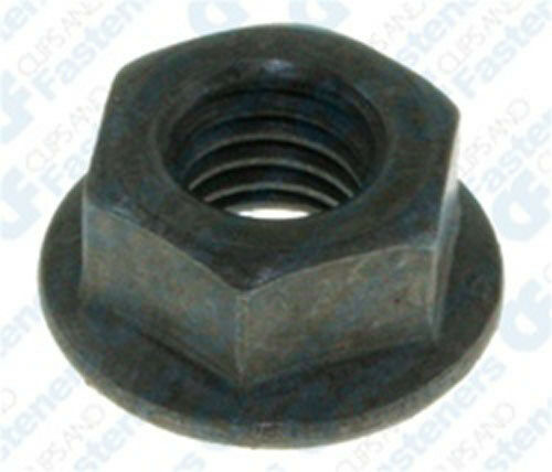 Clipsandfasteners Inc 50 M8-1.25 Hex 17mm O.D Flange Nuts 13mm Hex