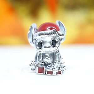 Details about Authentic Pandora Disney Stitch Christmas Charm 798452C01
