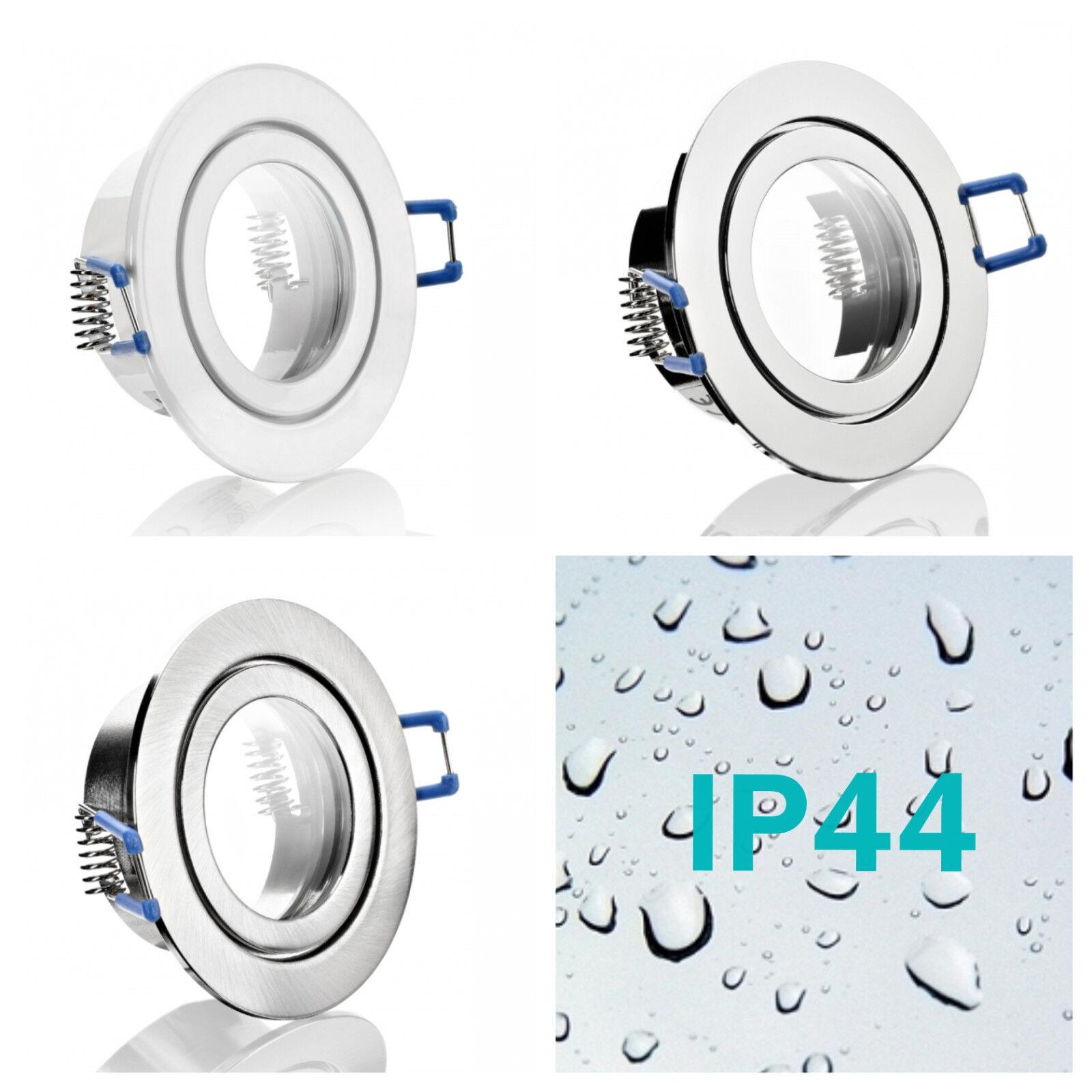 IP44 Feuchtraum Einbaustrahler Badleuchte Strahler Einbaulampe für MR16 / GU10