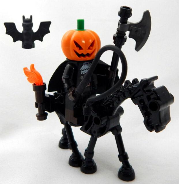 Lego Headless Horseman Minifig Halloween Horse Man Sleepy