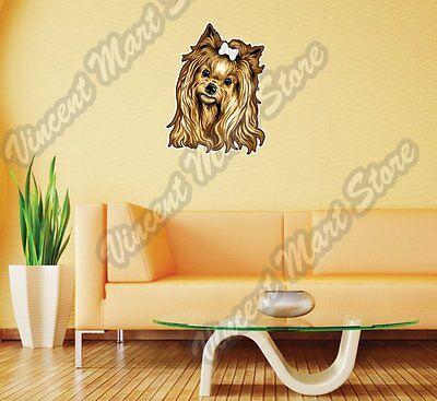 Yorkshire Terrier Yorkie Dog Face Pet Wall Sticker Room Interior Decor 20 X25 617883937783 Ebay