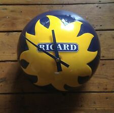 Rare vintage French Ricard (Pastis) china dome wall clock, French cafe