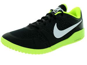 Mens Nike Lunar Ultimate TR Training Shoes 749162 002 Black White Volt Sz 11
