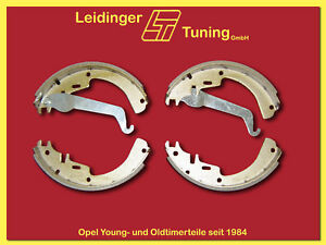 Opel GT   Kadett B   Olympia A   Bremsbacken Satz ab 1.9 Handbremsseil mit Öse