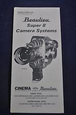 Ca 1960 Beaulieu Super 8 Camera Systems Brochure