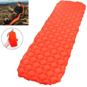 Ultralight Inflatable Sleeping Mat Camping Air Pads Roll Beds Mattress Orange