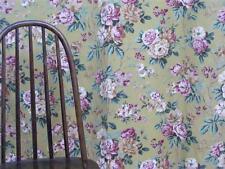 Floral  linen union Sanderson style chintz 1940s era curtain vintage fabric