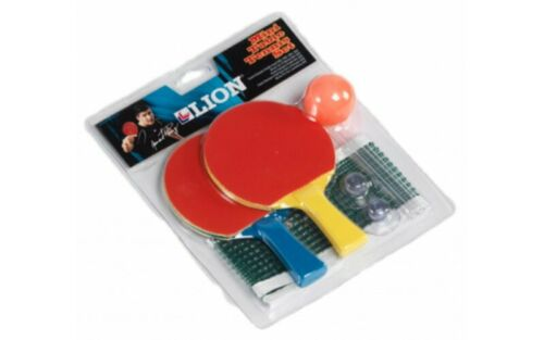 Lion Mini Tennis de Table Starter Set 2 chauves-souris Balle /& net