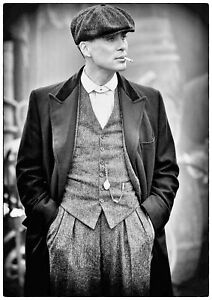 Reproduction-Peaky-Blinders-034-Tommy-Shelby-Black-amp-White-034-Poster-Size-A2