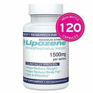 Lipozene MEGA Bottle - 120 Capsules - Largest Size Available - Appetite Suppress