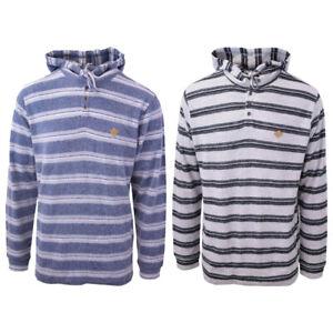Rip-Curl-Men-039-s-Double-Striped-L-S-Henley-Hoodie