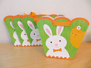 New hallmark easter bunny bird chick medium gift bags set of 4 ebay image is loading new hallmark easter bunny bird chick medium gift negle Images