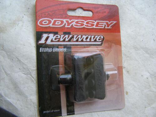 ODYSSEY NOS BRAKE SHOES BLACK PIT BULL  VINTAGE BMX FREESTYLE CRUISER  PADS