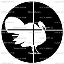 Turkey/Crosshairs vinyl decal/sticker hunter hunting gobbler wild bird archery