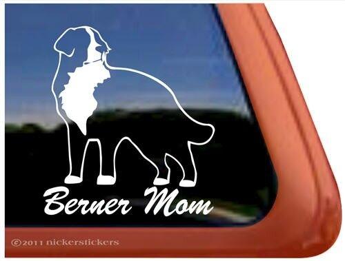 Berner MomHigh Quality Vinyl Bernese Mountain Dog Window Decal Sticker