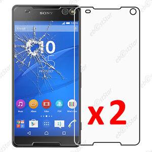 x2-Film-Protection-ecran-Verre-Trempe-Anti-Casse-Sony-Xperia-C5-Ultra-Dual-E5533
