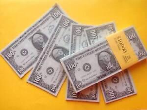 Image Is Loading 100 X Novelty Dollars Fake Usa U S