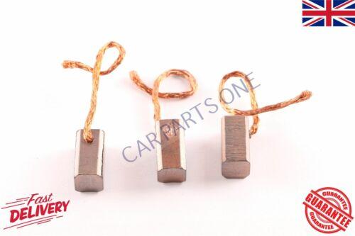 ESCOBILLAS de carbón Ajuste LIMPIAPARABRISAS 3 piezas de 6//12 voltios